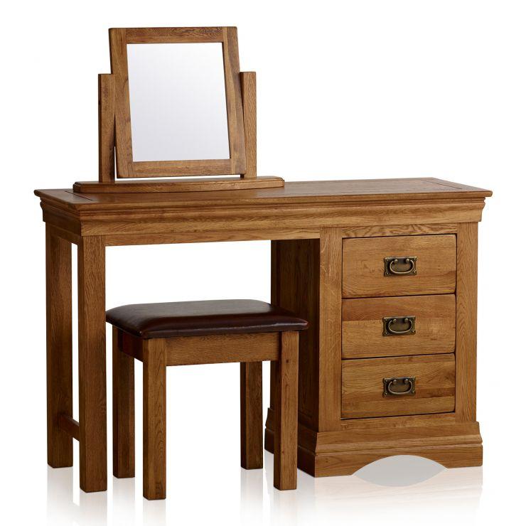 best website ef235 97e23 French Farmhouse Rustic Solid Oak Dressing Table Set