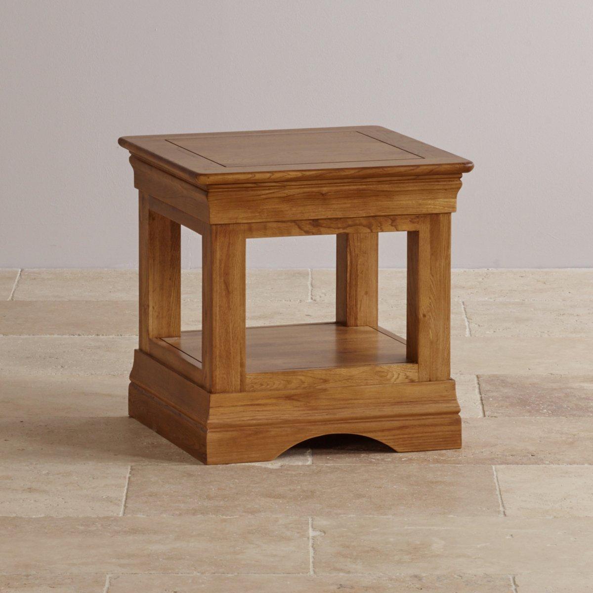 French Farmhouse Side Table In Rustic Oak Oak Furniture Land