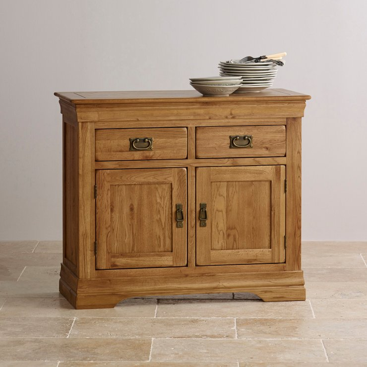 French Farmhouse Small Sideboard in Solid Oak