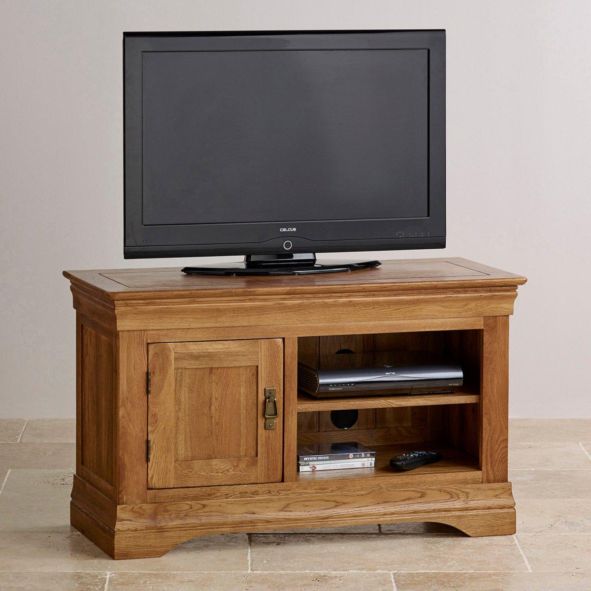 French Farmhouse TV Cabinet | Solid Oak | Oak Furniture Land