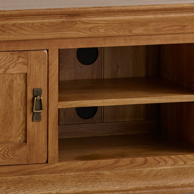 French Farmhouse Tv Cabinet In Solid Oak Oak Furniture Land