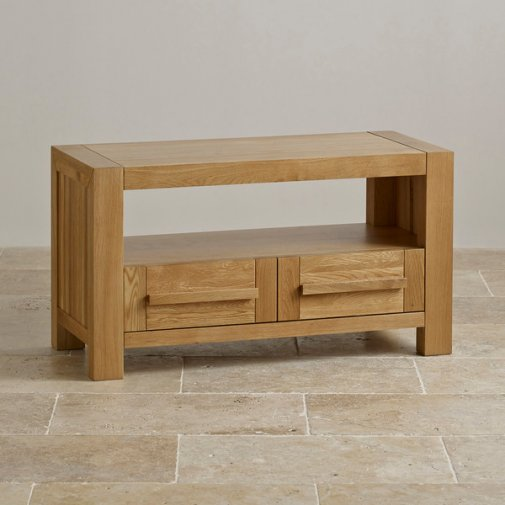 Fresco Natural Solid Oak Small TV Cabinet