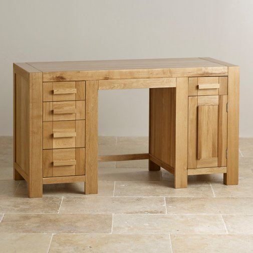 Fresco Natural Solid Oak Computer Desk