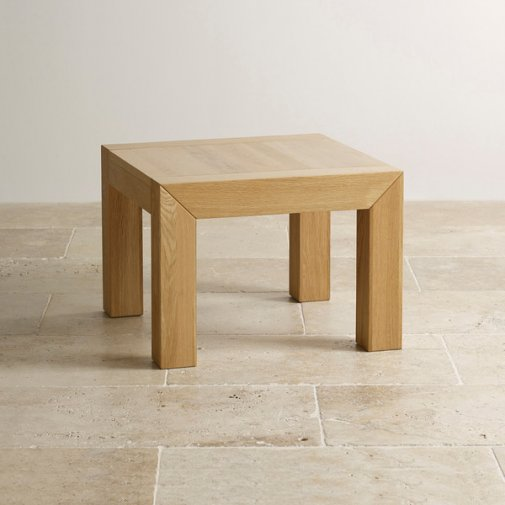 Fresco Natural Solid Oak Side Table