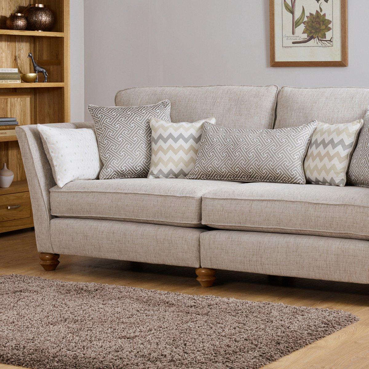 Gainsborough 3 seater sofa in beige oak furniture land for Furniture land