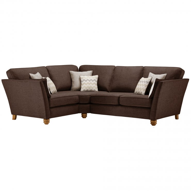 Gainsborough Right Hand Corner Sofa in Brown with Beige Scatters