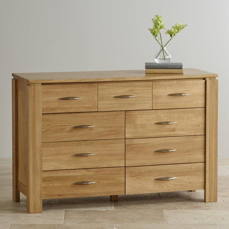 galway natural solid oak 9 drawer chest by oak furniture land. Black Bedroom Furniture Sets. Home Design Ideas