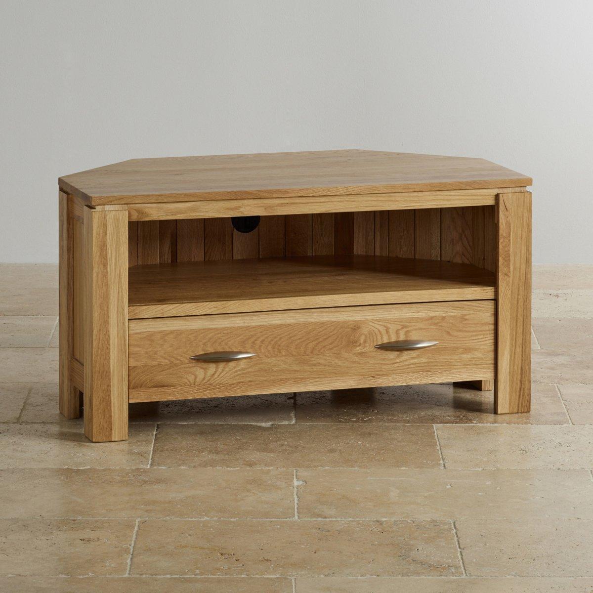 galway corner tv dvd cabinet in solid oak oak. Black Bedroom Furniture Sets. Home Design Ideas