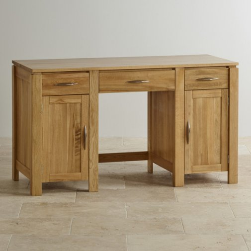 Galway Natural Solid Oak Computer Desk
