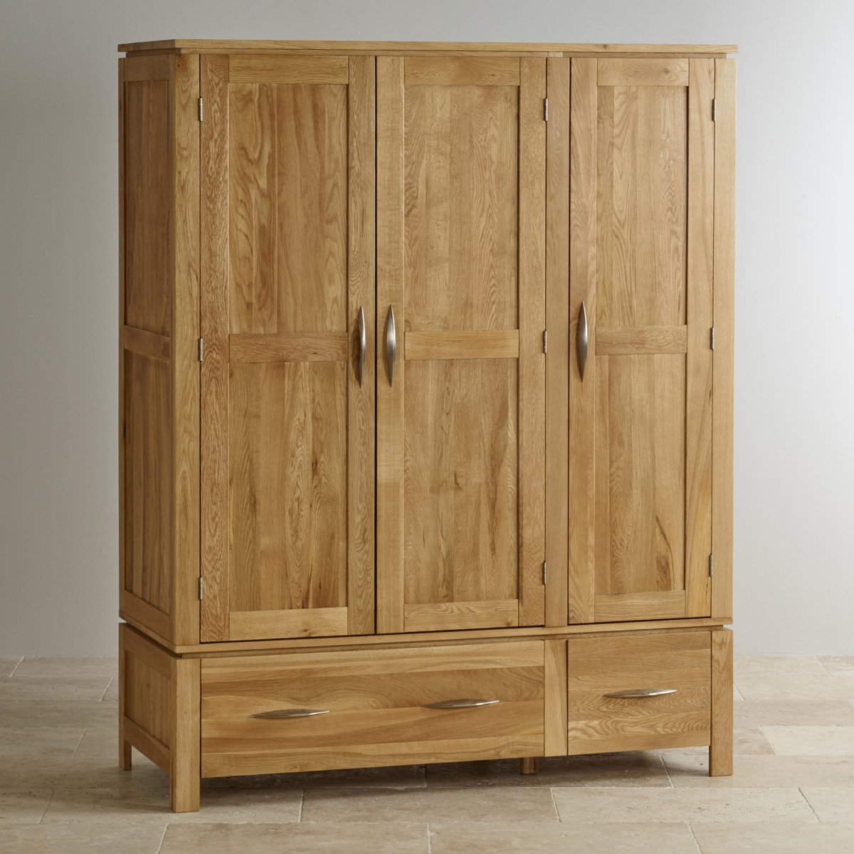 galway natural solid oak triple wardrobe by oak furniture land. Black Bedroom Furniture Sets. Home Design Ideas
