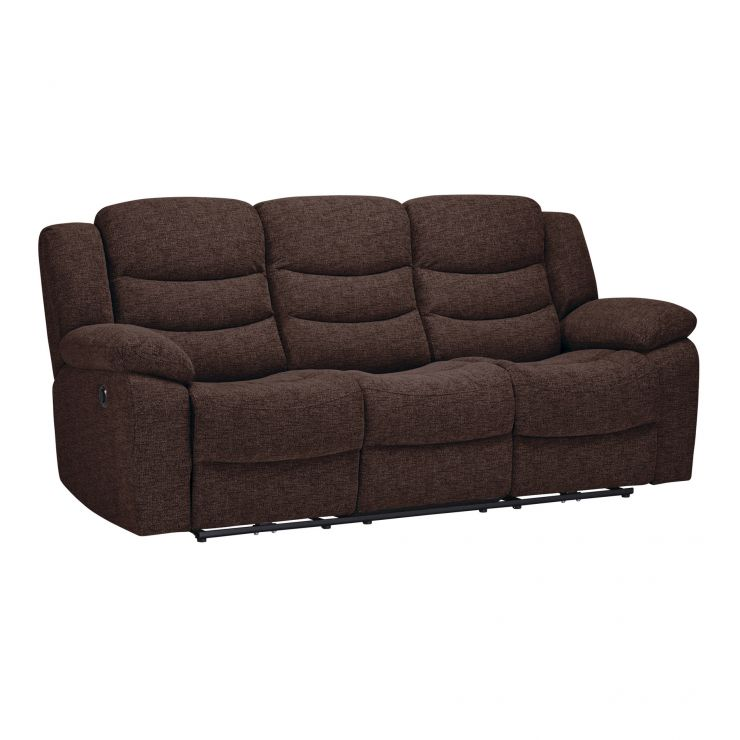 Grayson 3 Seater Electric Recliner Sofa Charcoal Fabric