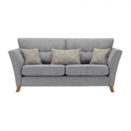 Grosvenor 3 Seater Sofa in Blue with Silver Scatters