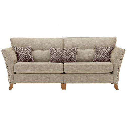 Grosvenor 4 Seater Sofa in Beige with Grey Scatters
