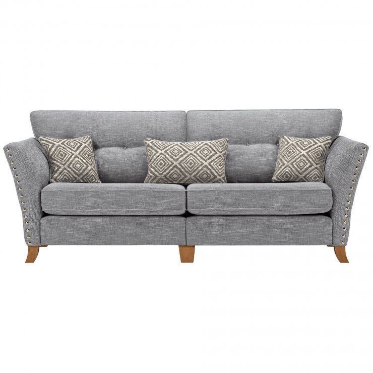 Grosvenor 4 Seater Sofa in Blue with Silver Scatters