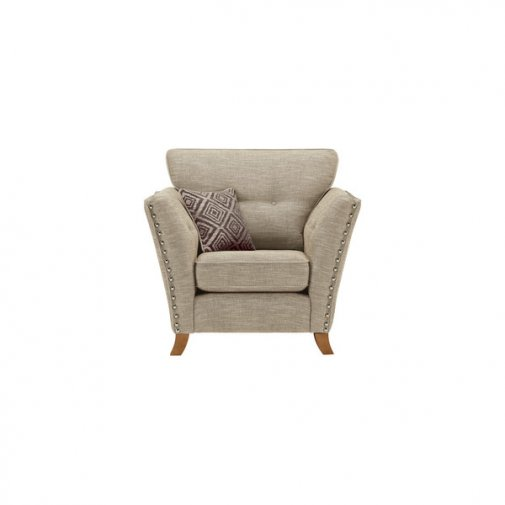 Grosvenor Armchair in Beige with Grey Scatters