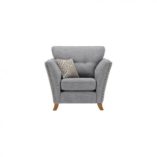 Grosvenor Armchair in Blue with Silver Scatters