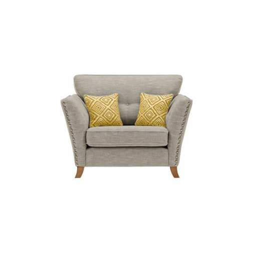Grosvenor Loveseat in Silver with Yellow Scatters