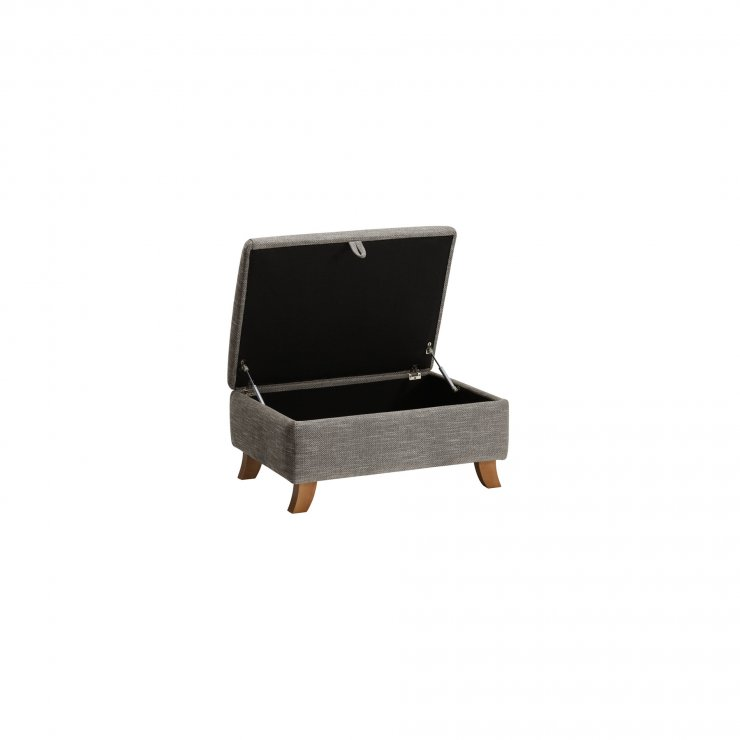 Grosvenor Storage Footstool in Grey