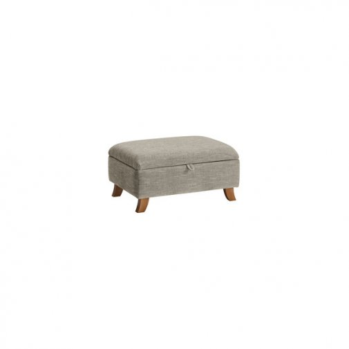 Grosvenor Storage Footstool in Silver