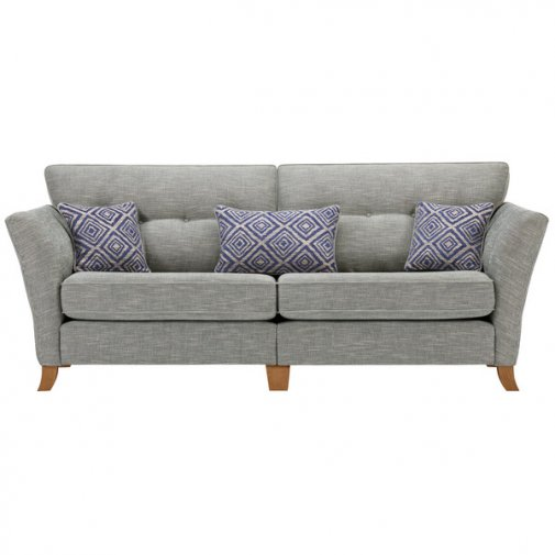 Grosvenor Traditoinal 4 Seater Sofa in Blue with Blue Scatters