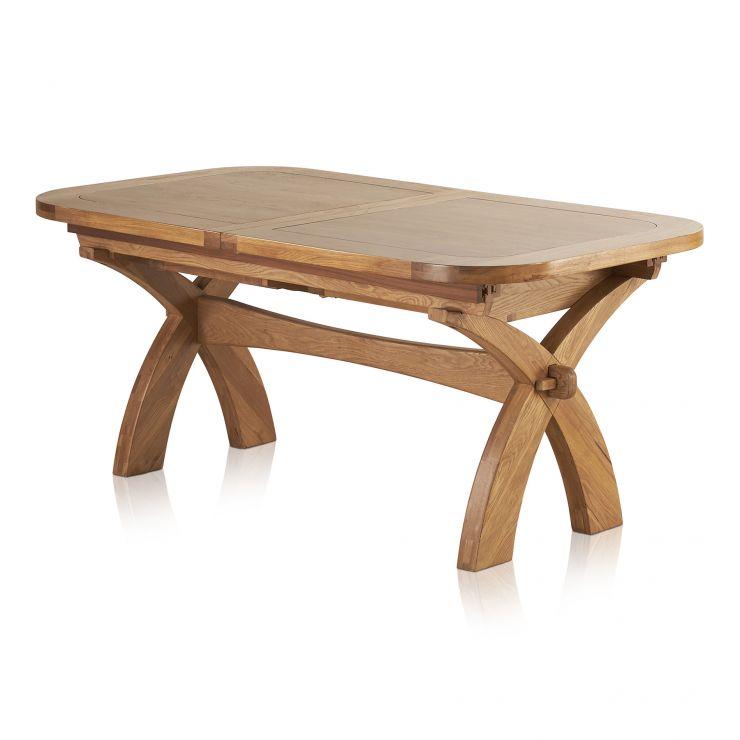 hercules extending dining table in rustic oak oak furniture land. Black Bedroom Furniture Sets. Home Design Ideas