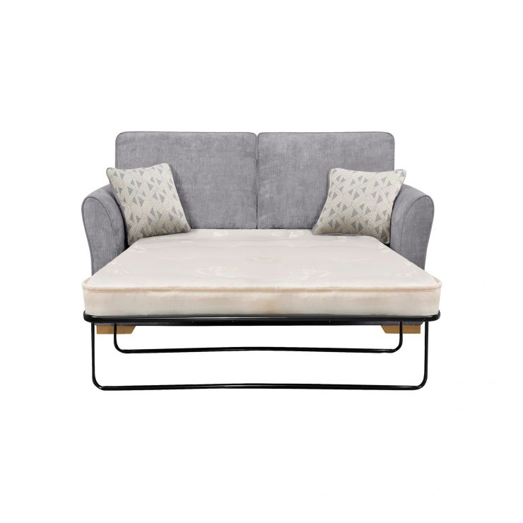 Jasmine 2 Seater Sofa Bed Deluxe Mattress In Cosmo Pewter With