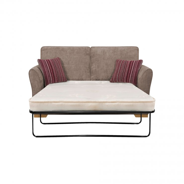 Jasmine 2 seater sofa bed with deluxe mattress in grey for Sofa bed 180cm