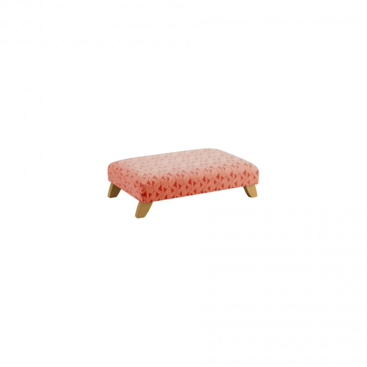 Jasmine Footstool in Linen and Bamboo Spice Fabric