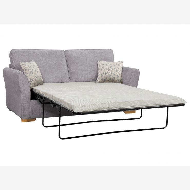 Jasmine 3 Seater Sofa Bed Standard Mattress In Cosmo Pewter With