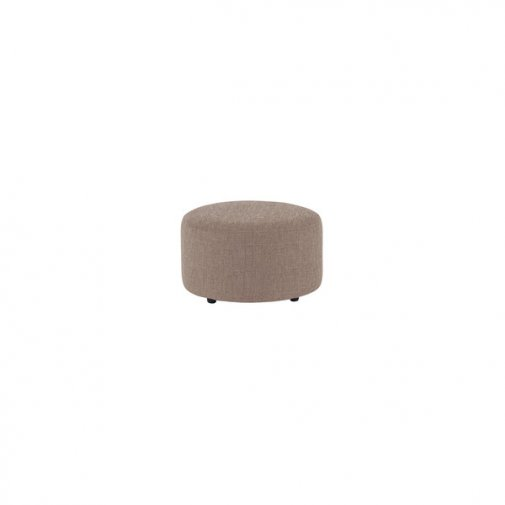 Jasmine Round Footstool in Grace Fabric - Grey