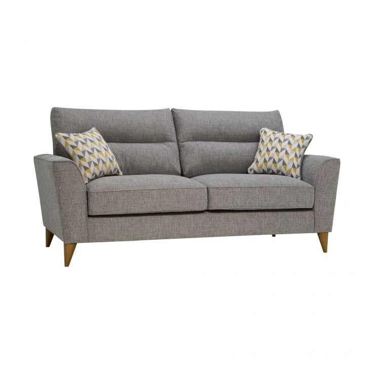 Stupendous Jensen Silver 3 Seater Sofa With Zest Accent Beutiful Home Inspiration Cosmmahrainfo