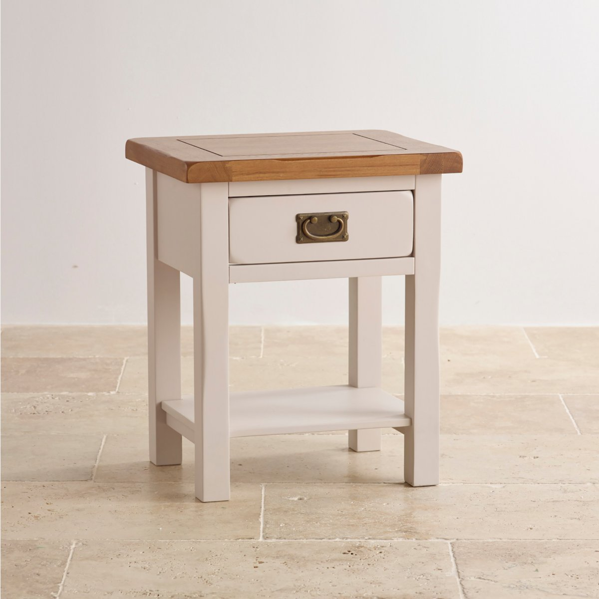 Kemble Painted Lamp Table In Solid Oak Oak Furniture Land
