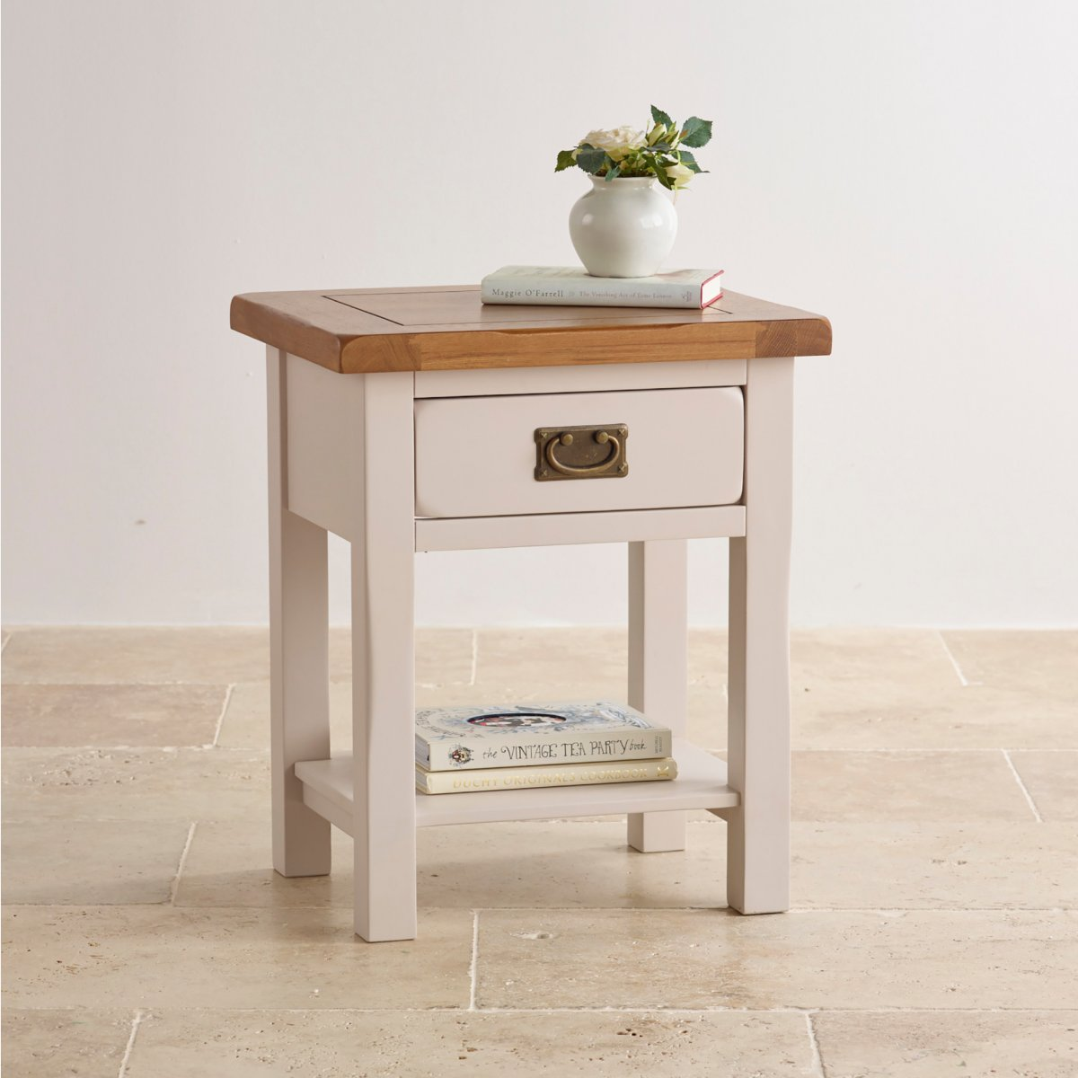 Kemble Painted Lamp Table in Solid Oak