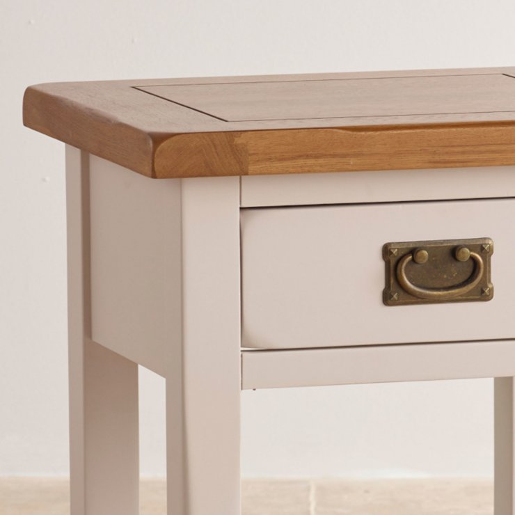 Kemble painted lamp table in solid oak oak furniture land for Table 6 kemble inn