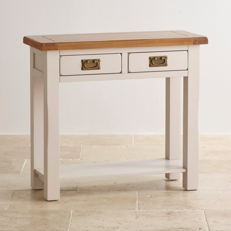Kemble Painted 2 Drawer Console Table in Rustic Solid Oak : kemble rustic solid oak and painted 2 drawer console table 55e095f049bcf2f665d936df6584dfbc6559a2a0c8af9 from www.oakfurnitureland.co.uk size 740 x 740 jpeg 51kB