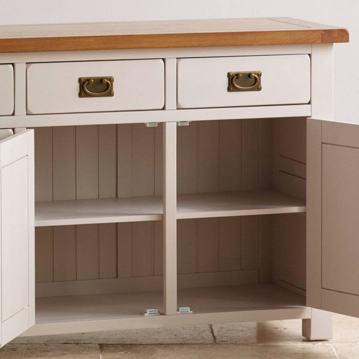 Elegant Painted Hardwood Large Sideboard