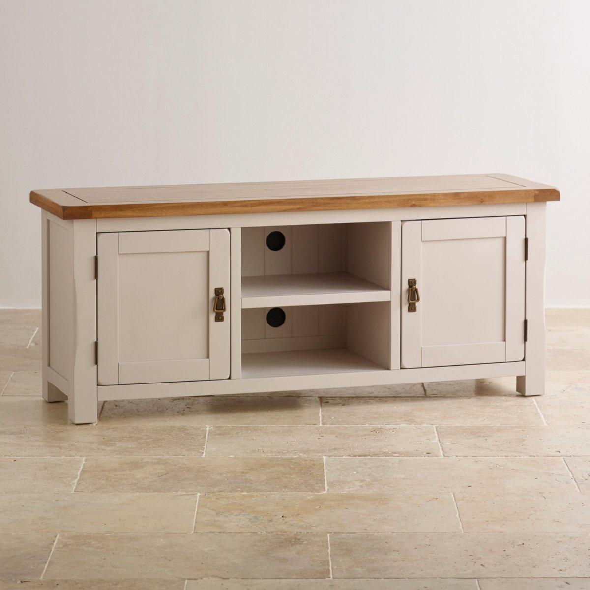 kemble widescreen tv cabinet in solid oak oak furniture land. Black Bedroom Furniture Sets. Home Design Ideas