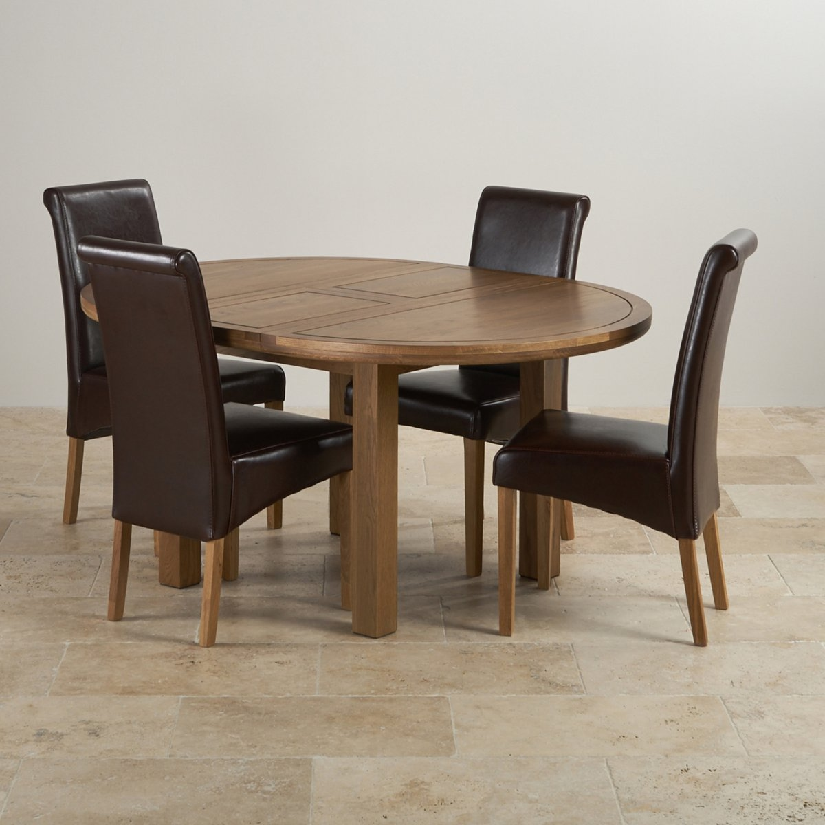 Knightsbridge round extending dining table set table 4 for Round dining table for 4