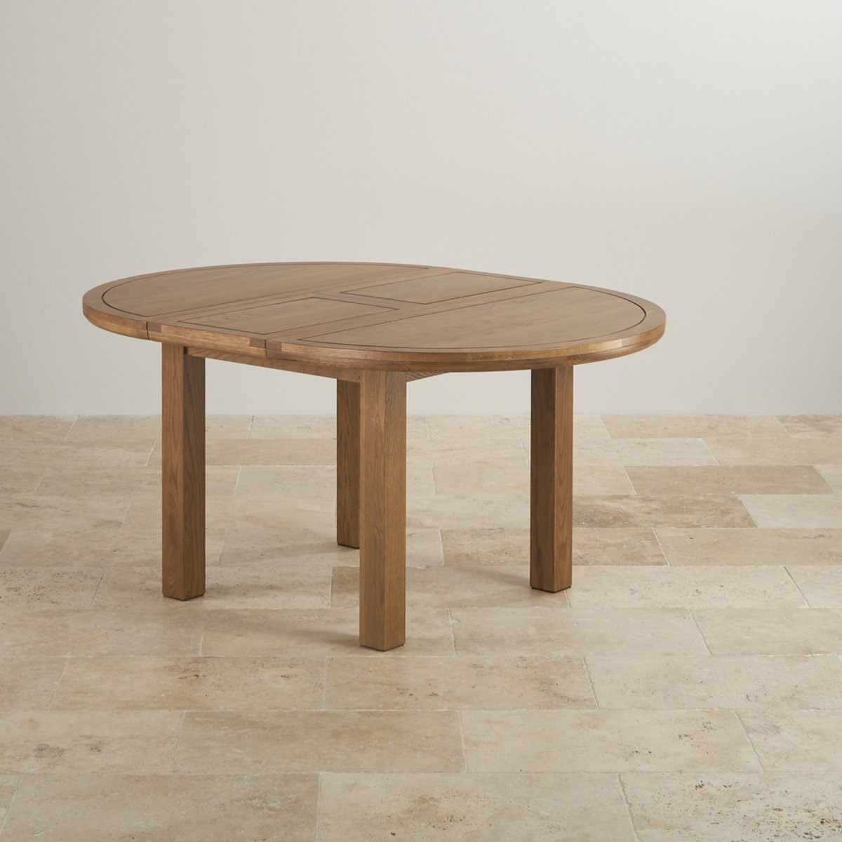 Knightsbridge round extending dining table set table 4 for Solid oak dining table