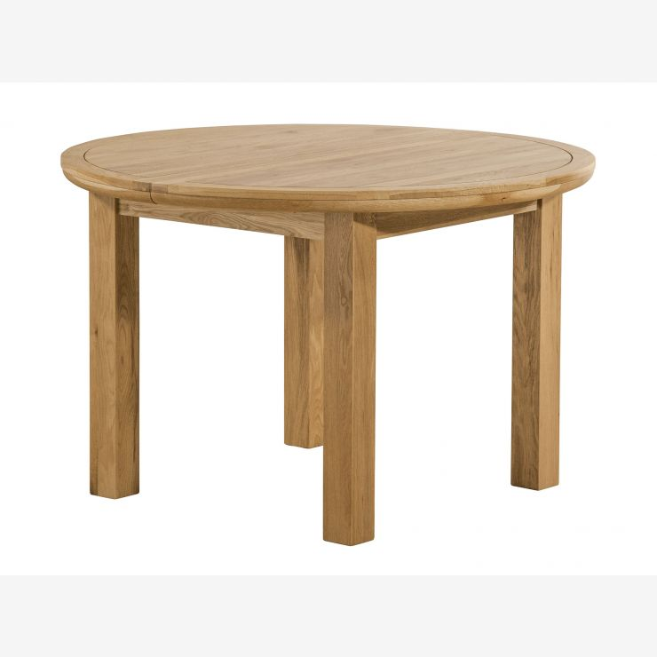 Knightsbridge Round Extending Dining Set Dining Table 4: Round Wood Dining Table