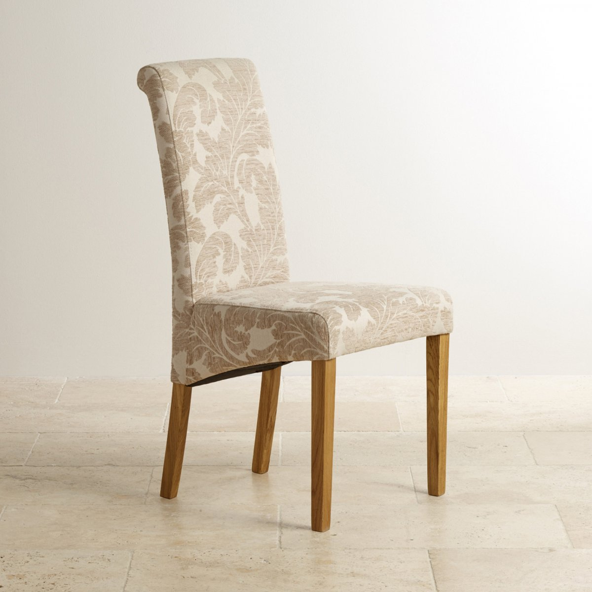 Round Dining Table With Fabric Chairs: Knightsbridge Oak Dining Set