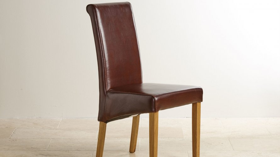 oak and leather dining chairs leather dining chairs dining room 7123