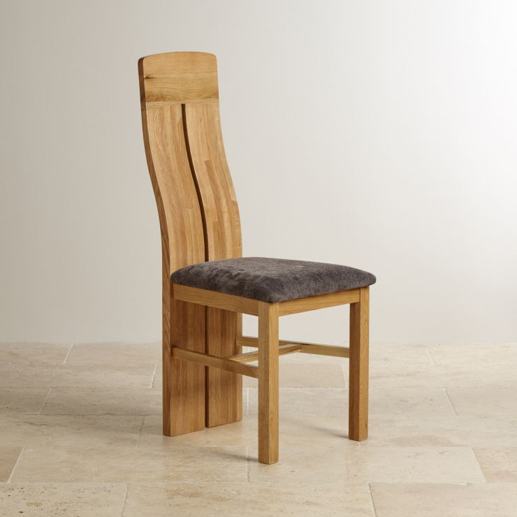 Solid Oak Dining Chairs: Lily Natural Solid Oak Fabric Dining Chair