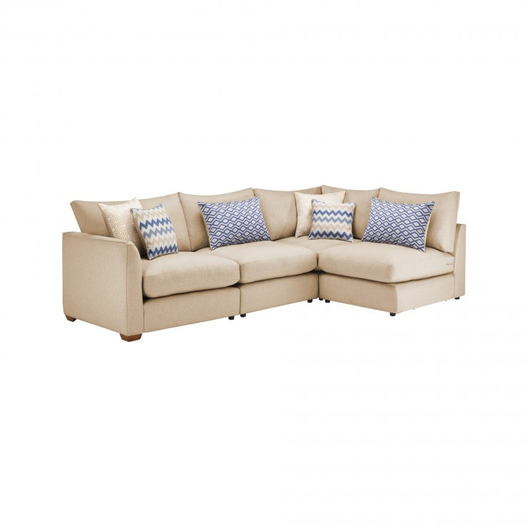 Maddox Modular Group 4 in Eleanor Beige with Cream Scatters