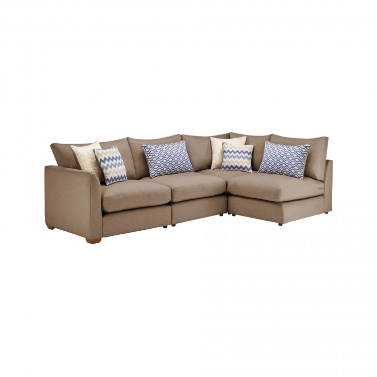 Maddox Modular Group 4 in Eleanor Mink with Cream Scatters