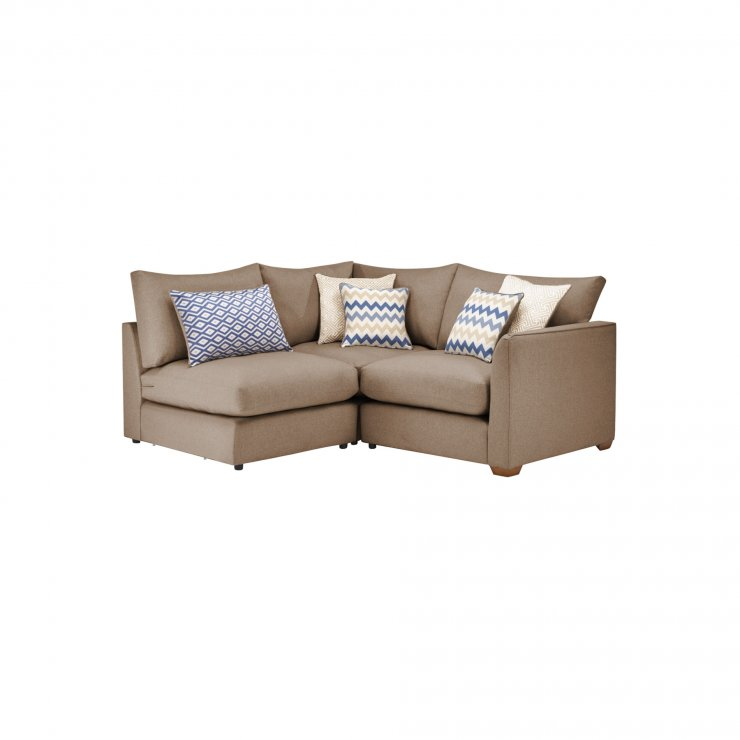 Maddox Modular Group 7 in Eleanor Mink with Cream Scatters