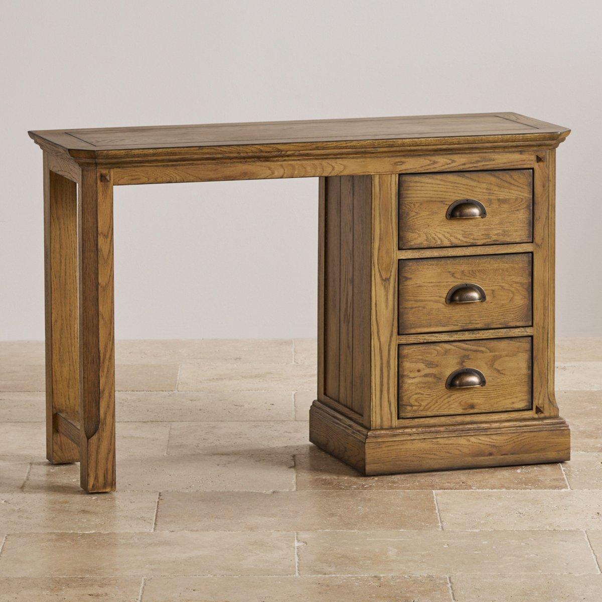 manor house dressing table in solid oak oak furniture land. Black Bedroom Furniture Sets. Home Design Ideas