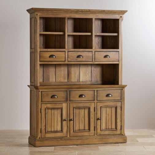 Manor House Vintage Solid Oak Large Dresser