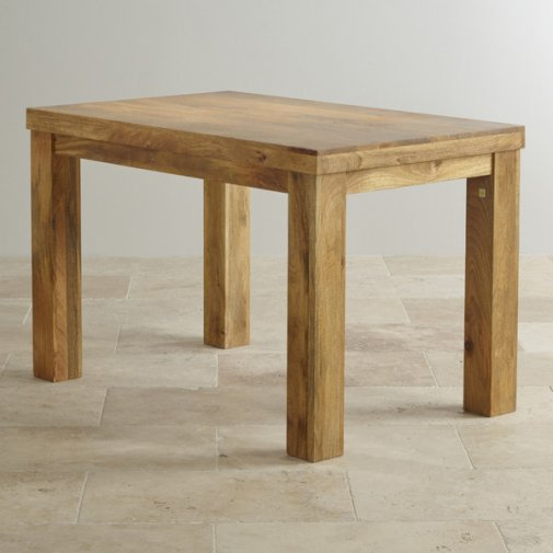 "Mantis Light Natural Solid Mango 4ft x 2ft 6"" Dining Table"