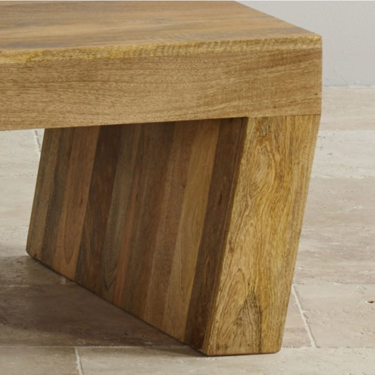 Mantis Light Natural Solid Mango Angled Coffee Table